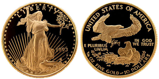Usa Gold 50th Anniversary Of World War Ii 5 Dollars 1993 Coin Value Km 245 Coins