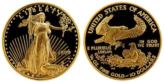 Монетный двор США прекращает продажи монет весом 1/10 унции