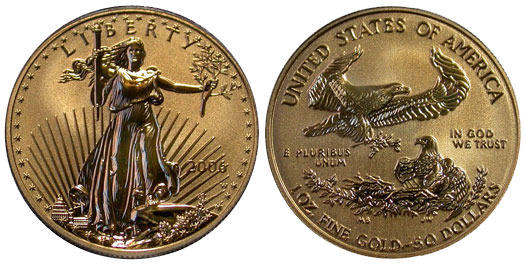 2006-W Reverse Proof Gold Eagle