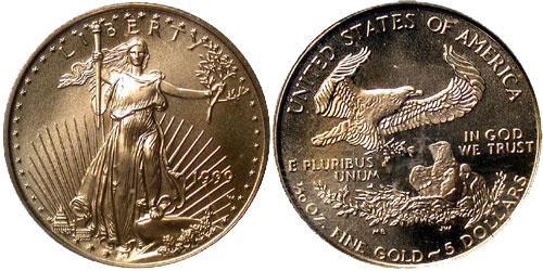1999-W Gold Eagle Struck with Unfinished Proof Dies | Gold Eagle Guide